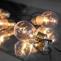 Star - Guirlandes 5 ampoules déco sur piles
