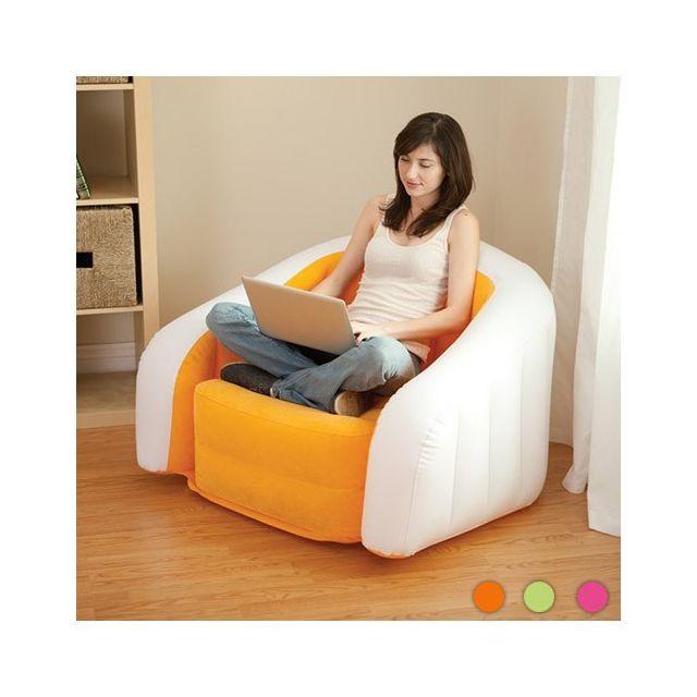 Totalcadeau Siège gonflable pour la maison - Fauteuil Couleur - Orange
