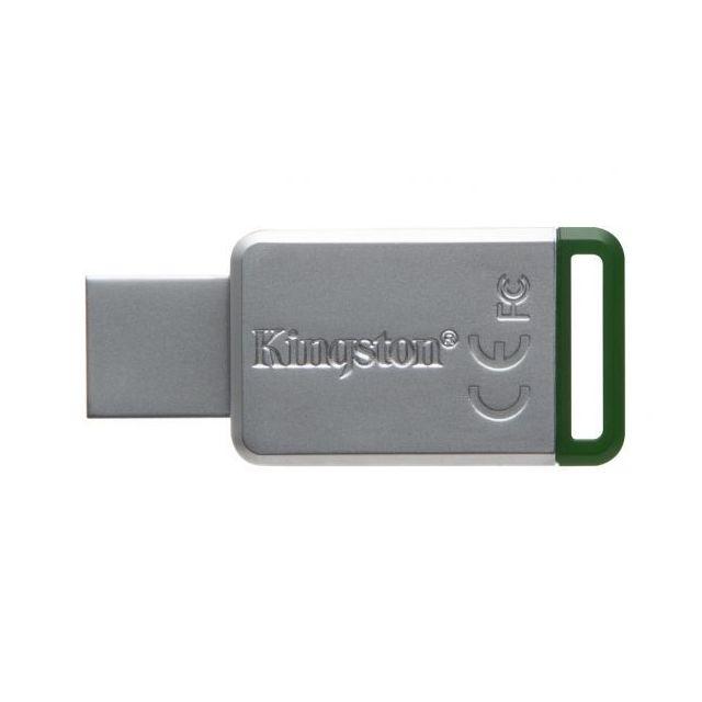 KINGSTON - Clé USB 3.0 16Go DataTraveler 50 Metal/Vert DT50/16GB
