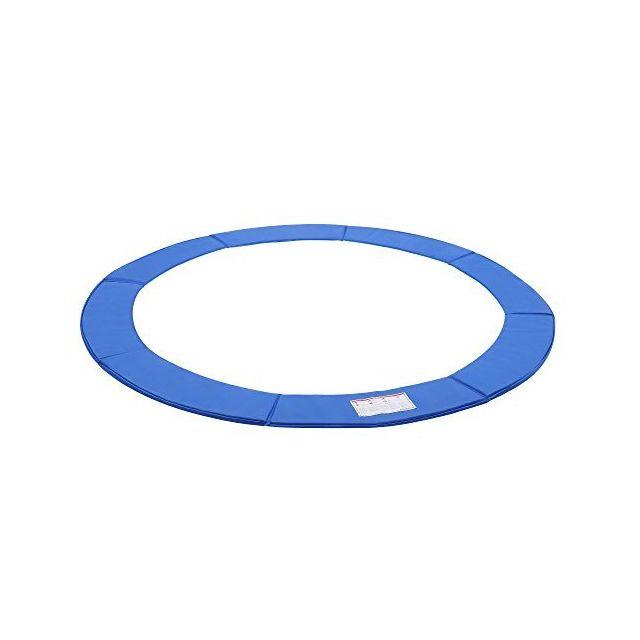 Fast-Jump Coussin de Protection des Ressorts pour Trampoline 14Ft PE 427 cm Bleu Intense