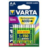 Varta - 2400 mAh Rechargeable Accu nimh R06 Aa x 4