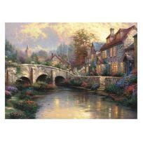 Schmidt - Puzzle 1000 pièces - Thomas Kinkade : Le pont pavé