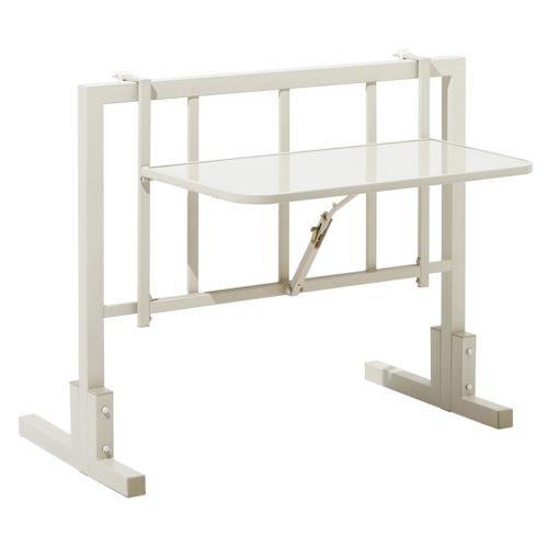 carrefour table de balcon accrocher m tal gris pas cher achat vente tables de jardin. Black Bedroom Furniture Sets. Home Design Ideas
