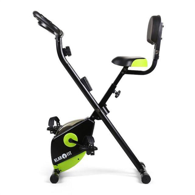 KLARFIT - X-Bike 700 Vélo d'appartement ergomètre pulsomètre pliable -vert/noir