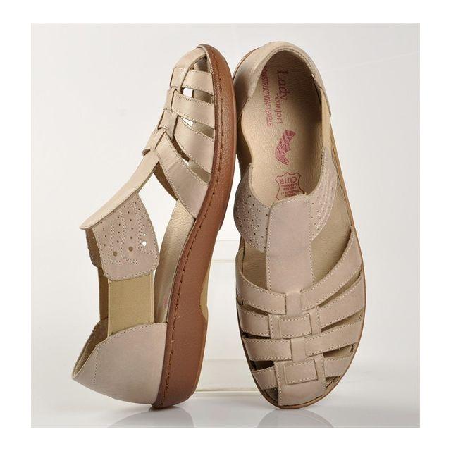 acheter bien Prix 50% style limité Lady Confort - Sandales Beige - pas cher Achat / Vente Boots ...