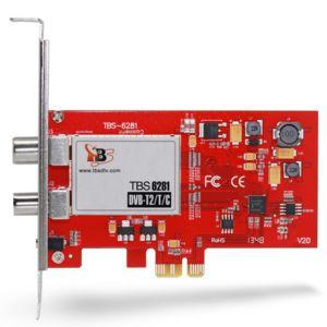TBS - 6281SE DVB-T/T2 Carte TV double tuner TNT DVB-T/T2, successeur de la carte TBS6280 , Carte de réception TV TNT HD en France - TNT Télévision Numérique Terrestre