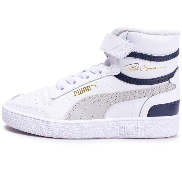 basket puma blanche enfant