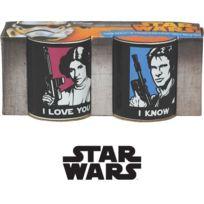 Ggs - Tasses à Expresso Star Wars - Han Solo et Leia