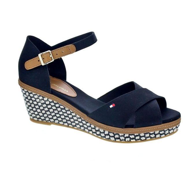 719a08a25c89 Tommy hilfiger - Chaussures Femme Sandales modele Iaic Elba - pas cher Achat    Vente Sandales et tongs femme - RueDuCommerce