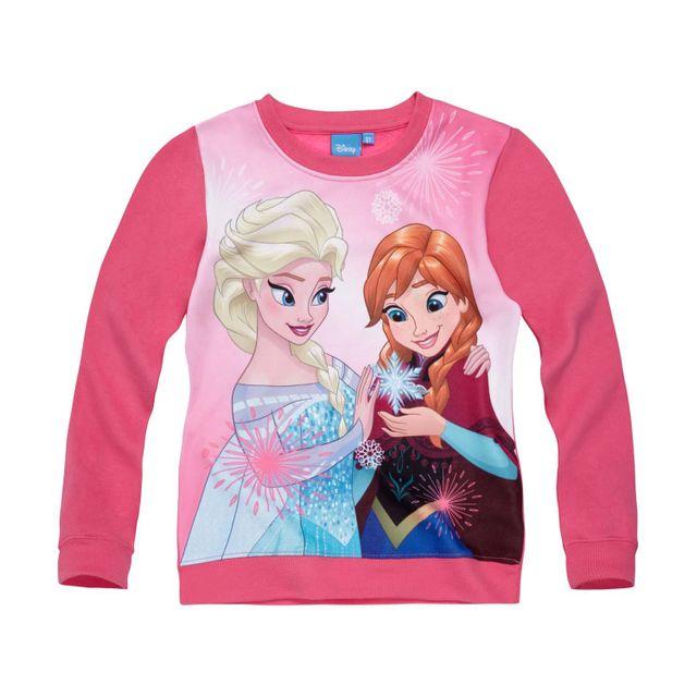 Sweat Shirt Fille Rose La Reine des Neiges Pull Fille