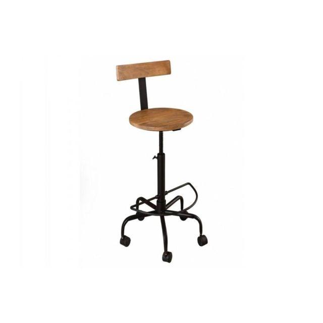 chaises industrielles bois. Black Bedroom Furniture Sets. Home Design Ideas