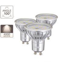 Xanlite - Pack de 3 ampoules spots, culot Gu10, classic4.5W 25W