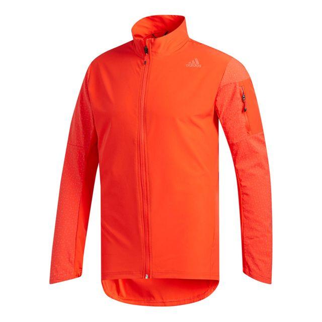 Adidas Veste Supernova Storm orange fluo pas cher Achat