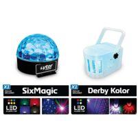 Lytor - Pack de 2 jeux de lumières à Leds Derby Kolor & Six Magic