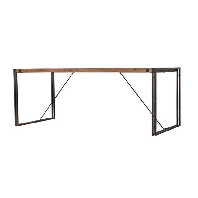 Meubletmoi Table fixe bois & acacia 200 x 90 – Workshop