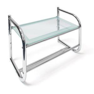 soldes helloshop26 porte s che serviette salle de bain universelle acier et verre 45 cm. Black Bedroom Furniture Sets. Home Design Ideas