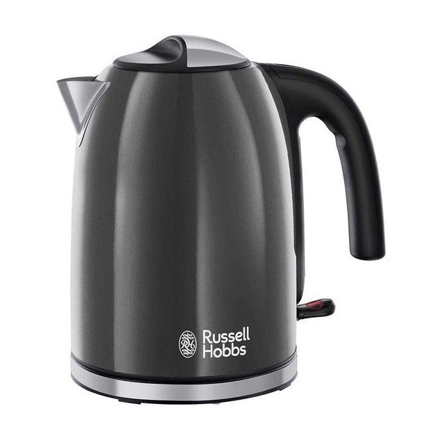 Totalcadeau Bouilloire noire en acier 2400 W 1,7 L - Eau chaude rapide pour thé, café