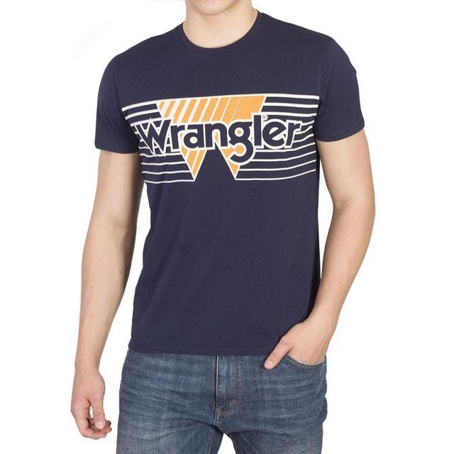 T-shirt bleu marine Homme Multicouleur S