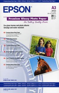 epson papier photo premium glac a3 255g 20 feuilles. Black Bedroom Furniture Sets. Home Design Ideas