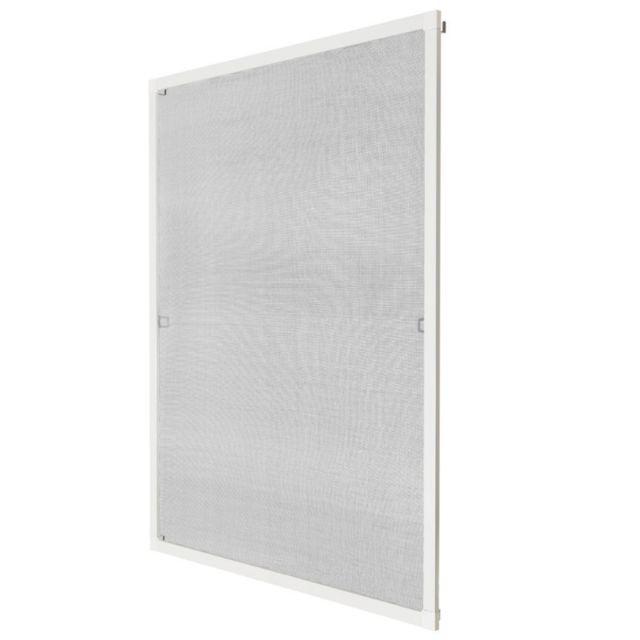 helloshop26 moustiquaire pour fen tre cadre fixe en aluminium 130x150 cm blanc 2008028 pas. Black Bedroom Furniture Sets. Home Design Ideas