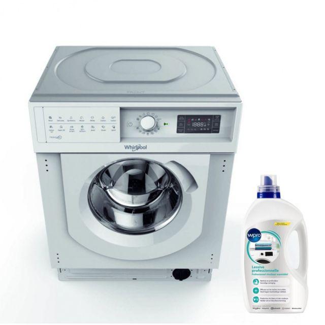 Whirlpool Lave-linge Tout Integrable encastrable 7kg 1200trs/min A++ Tambour 52L Machine à laver hublot