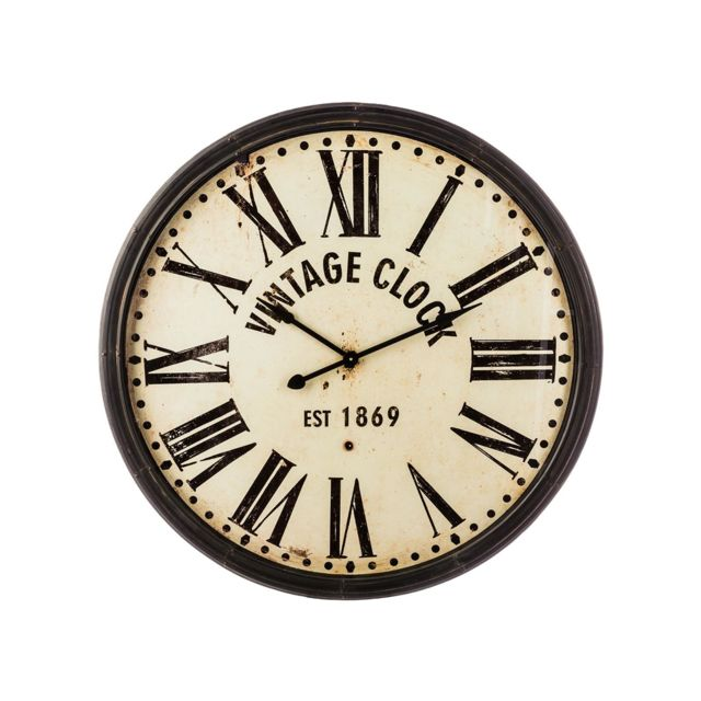 Atmosphera Createur D Interieur Horloge En Metal Vintage Clock Atmosphera Pas Cher Achat Vente Horloges Pendules Rueducommerce