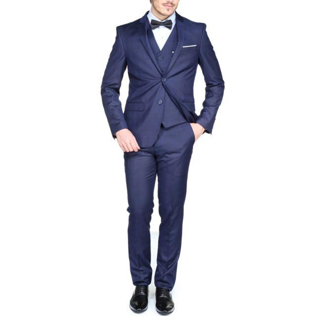 jean louis scherrer costume sch104 rome 3 pieces blue. Black Bedroom Furniture Sets. Home Design Ideas