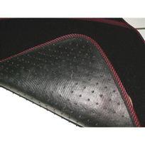 Ergoseat - 4 Tapis de sol pour voiture, broderie chinée blanc noir 183064
