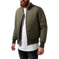 Beststyle - Blouson bomber homme vert chaud stylé