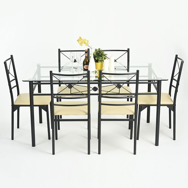 altobuy duncan ensemble table et 6 chaises sebpeche31. Black Bedroom Furniture Sets. Home Design Ideas