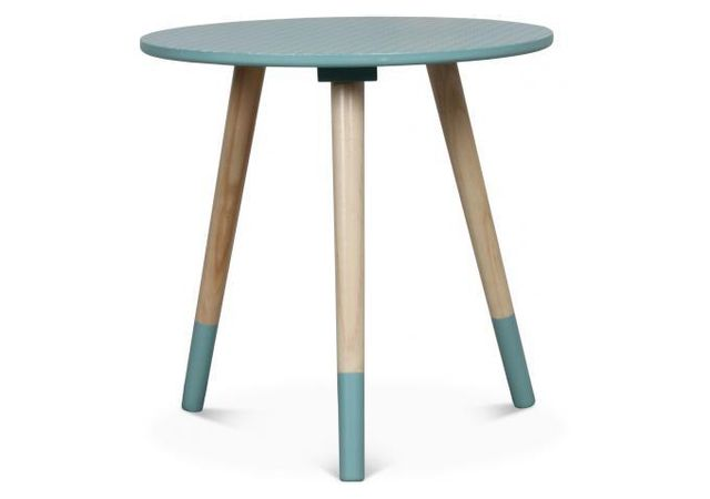 Declikdeco - Table Basse Style Scandinave Bleue D40xH40 Teodor - pas ... ad1799b723d4