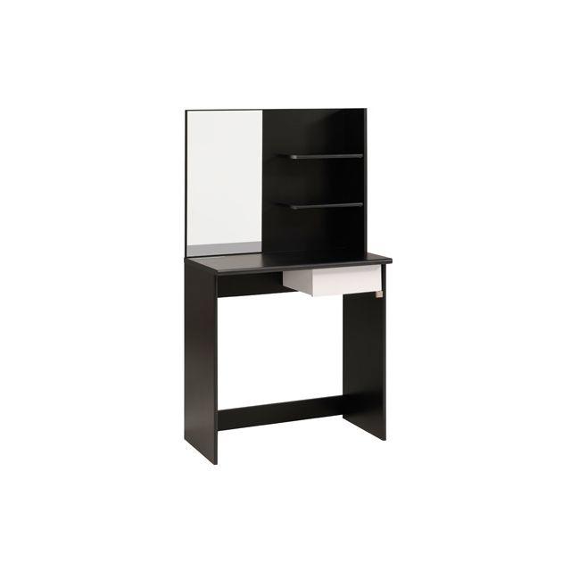 Coiffeuse avec miroir pas cher affordable meuble for Meuble coiffeuse avec miroir pas cher