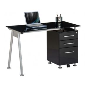 hjh office bureau table informatique nero noir. Black Bedroom Furniture Sets. Home Design Ideas
