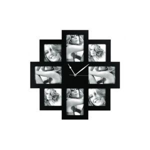 Zep - Horloge Photo Murale Noir 8 photos taranto Multicolore - 0cm x 0cm