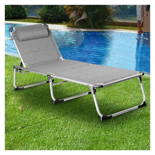 Marque Generique - Transat Pliable en aluminium - Chaise ...