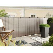 INTERMAS - Brise vue pour clôture Everly en rouleau 1.00 x 5 m Gris Nortene