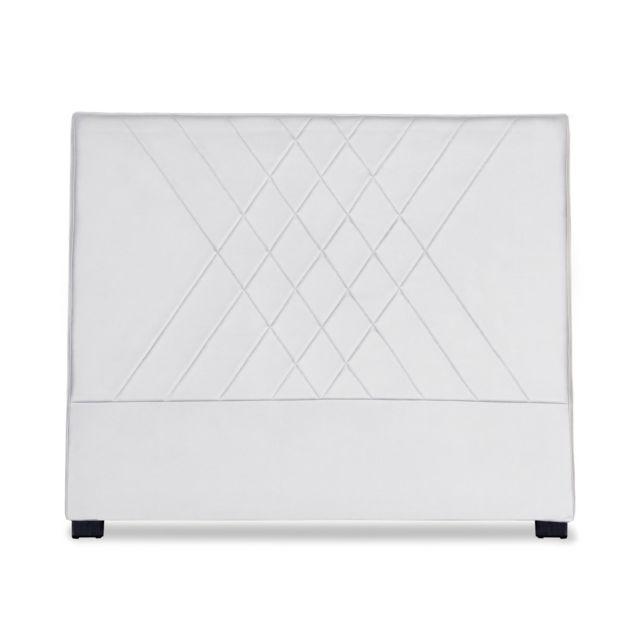 menzzo t te de lit diam 140cm simili p u blanc pas cher achat vente t tes de lit. Black Bedroom Furniture Sets. Home Design Ideas