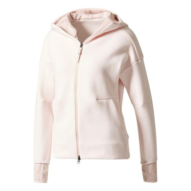Adidas - Veste femme Z.N.E. Pulse Rose - pas cher Achat   Vente Tee-shirts d34e60c409c