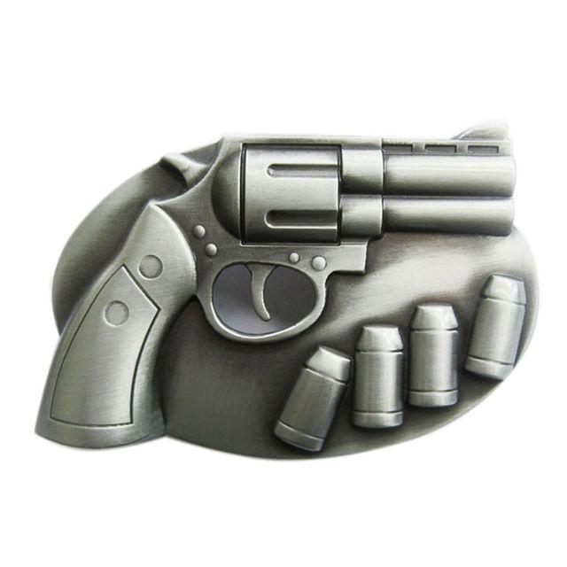 Universel - Boucle de ceinture pistolet et 4 balles alu homme femme ... 18a9a4c0e78