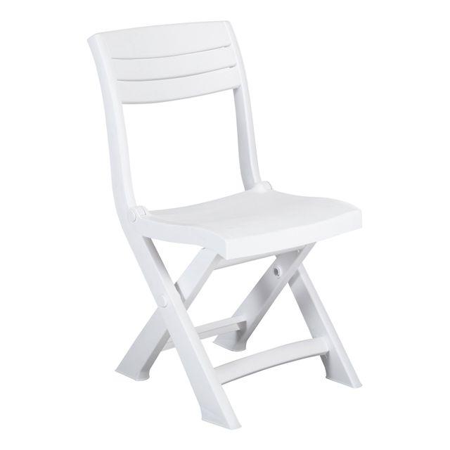 Allibert balcon chaise pliante tacoma blanc