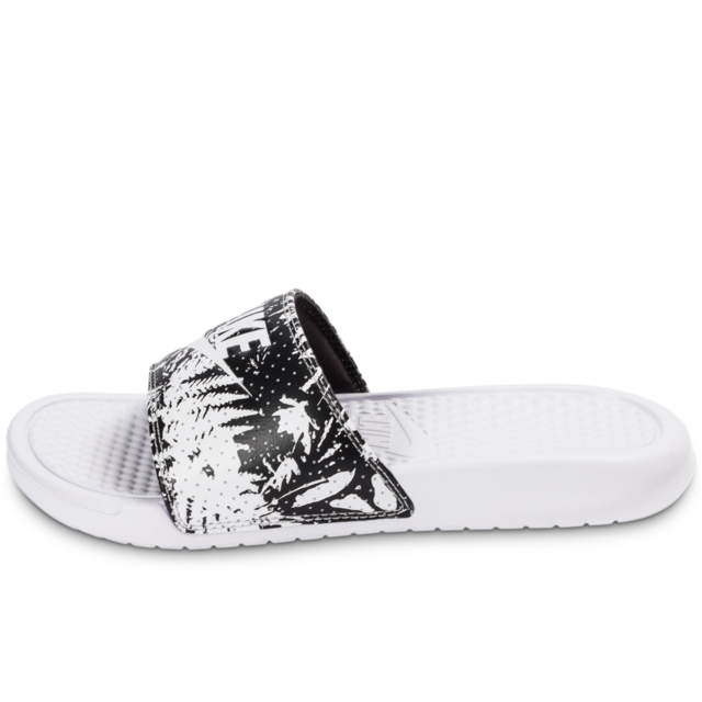 Nike - Benassi Just Do It Print Blanche - Sandales Femme ...