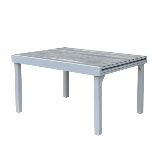 Bois Dessus Bois Dessous Table de jardin extensible en aluminium 6/10 places