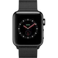 Watch 3 Cellular 38 - Acier noir / Bracelet milanais noir