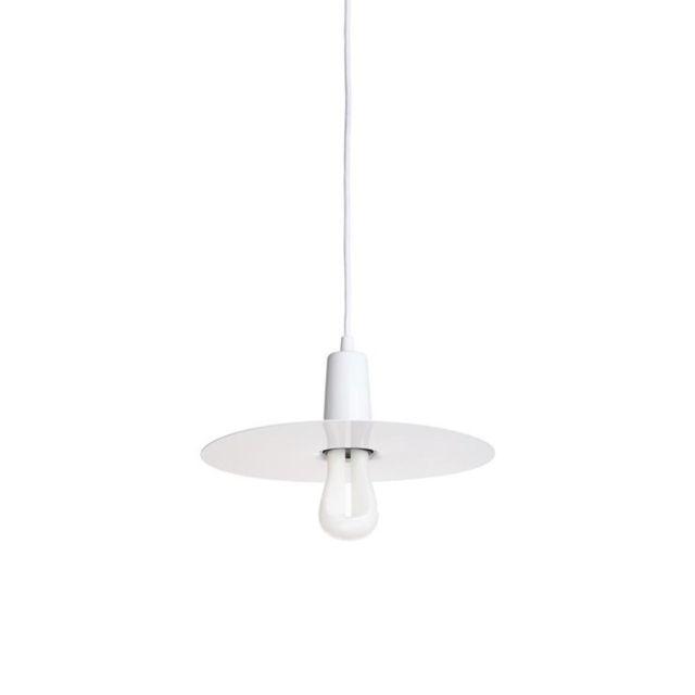 Plumen Led 002 Drop Hat-suspension avec Ampoule et Abat Jour Métal Led 002 Ø30,7cm Noir
