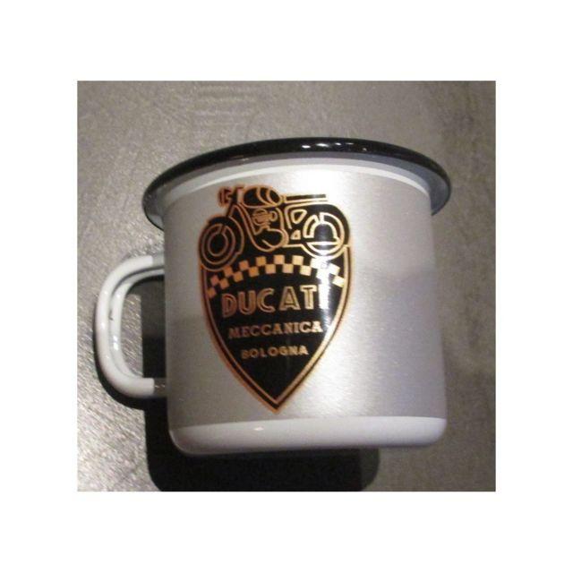 Universel Mug logo moto ducati en email tasse à café emaillée bar