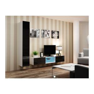 chloe design meuble tv design sierro blanc et noir pas cher achat vente meubles tv hi. Black Bedroom Furniture Sets. Home Design Ideas