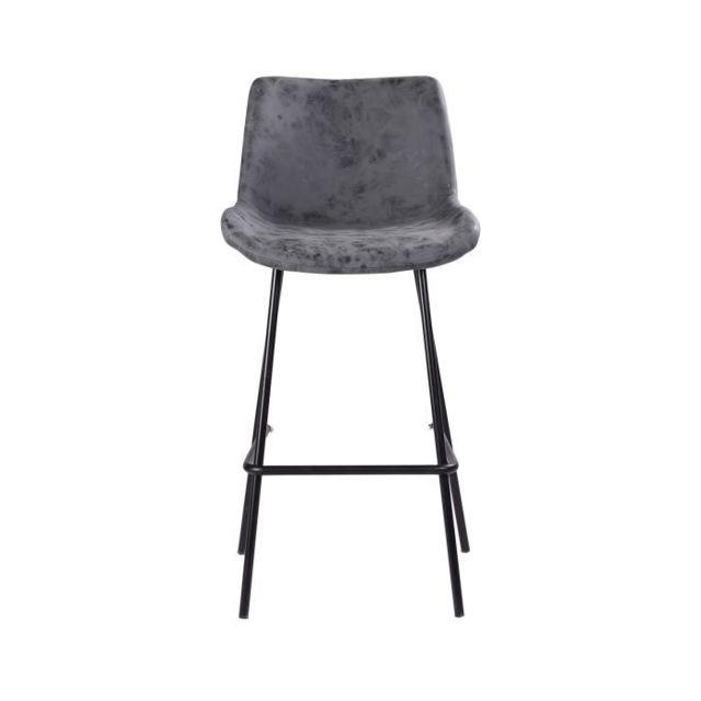 gÉnÉrique - tabouret tabouret de bar pieds en métal noir