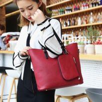 d288dee9d9 Wewoo - Sac porté épaule à main de couleur unie grande capacité pour femmes  rouge,