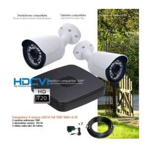dahua syst me de vid o surveillance 2 cam ras hd 720p. Black Bedroom Furniture Sets. Home Design Ideas