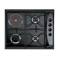 Whirlpool - table de cuisson mixte gaz et électrique 60cm 4 feux noir - akm261nb